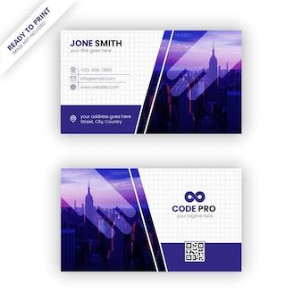 Plantilla de tarjeta de visita colorida y corporativa