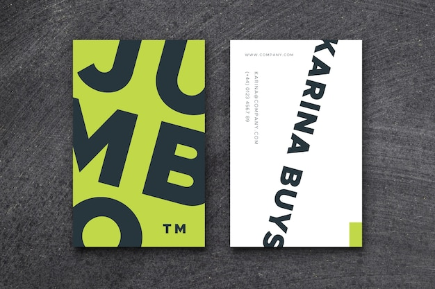 Plantilla de tarjeta de visita colorida del diseñador gráfico