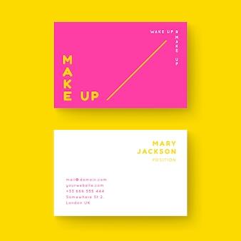 Plantilla de tarjeta de visita colorida mínima