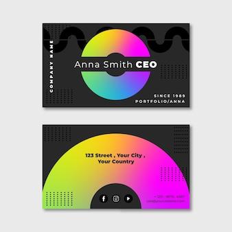 Plantilla de tarjeta de visita colorida