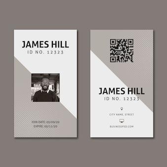 Plantilla de tarjeta de visita comercial de marketing