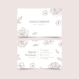 Plantilla de tarjeta de visita con concepto floral