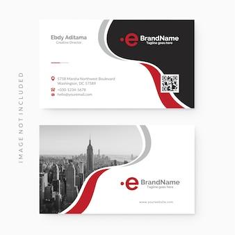 Plantilla de tarjeta de visita corporativa limpia y moderna