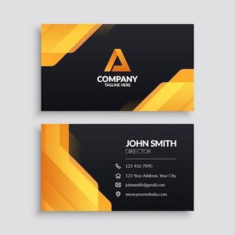 Plantilla de tarjeta de visita corporativa moderna amarilla