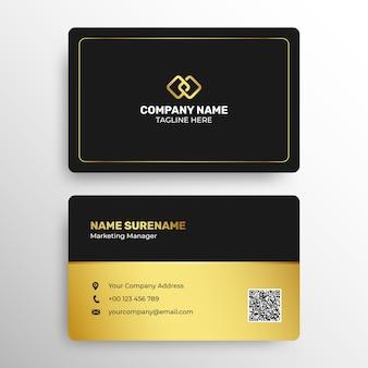 Plantilla de tarjeta de visita corporativa moderna y profesional