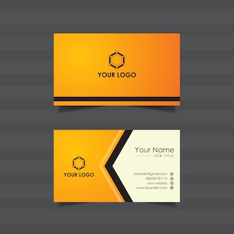 Plantilla de tarjeta de visita corporativa naranja