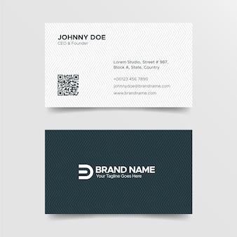 Plantilla de tarjeta de visita corporativa profesional en blanco y negro