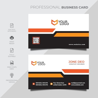Plantilla de tarjeta de visita corporativa