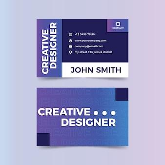 Plantilla de tarjeta de visita creativa divertida del diseñador