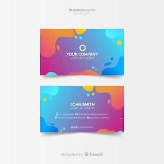 Plantilla de tarjeta de visita creativa en estilo abstracto
