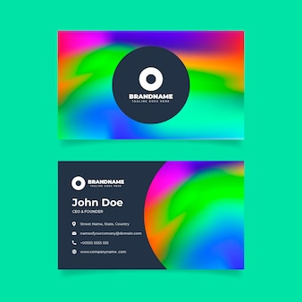 Plantilla de tarjeta de visita degradada colorida