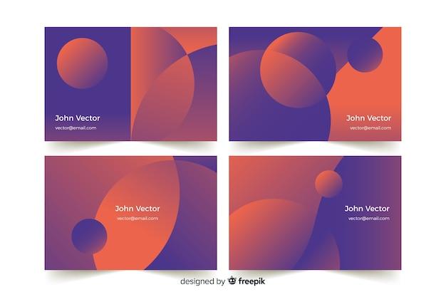 Plantilla de tarjeta de visita degradado abstracto