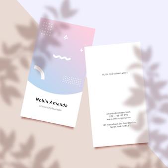 Plantilla de tarjeta de visita de degradado pastel