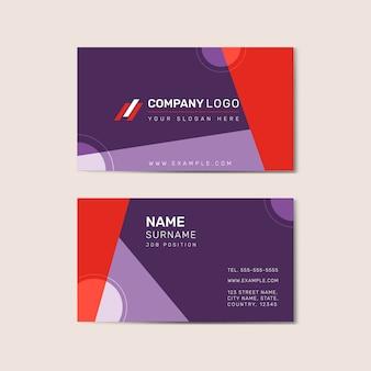 Plantilla de tarjeta de visita delantera y trasera vector
