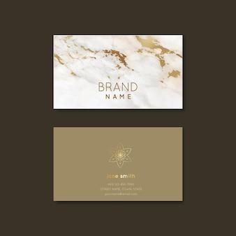 Plantilla de tarjeta de visita de detalles de lámina de oro