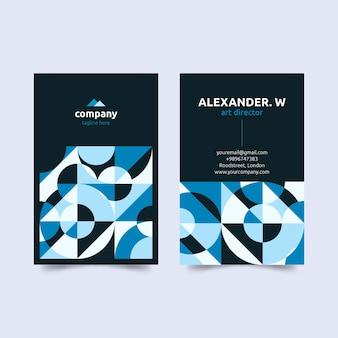 Plantilla de tarjeta de visita de director de arte