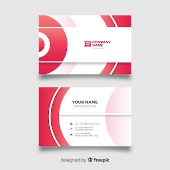 Plantilla de tarjeta de visita de diseño abstracto