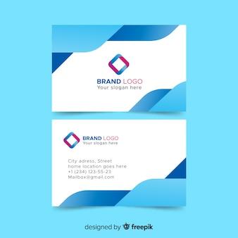 Plantilla de tarjeta de visita con diseño abstracto