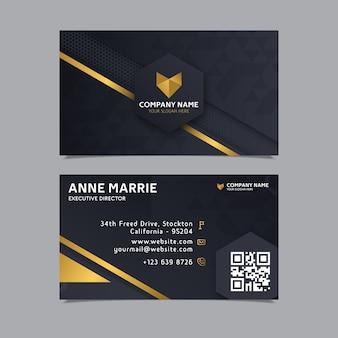 Plantilla de tarjeta de visita de diseño elegante