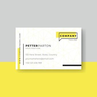 Plantilla de tarjeta de visita de diseño minimalista