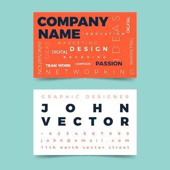 Plantilla de tarjeta de visita de diseño de nombre de empresa