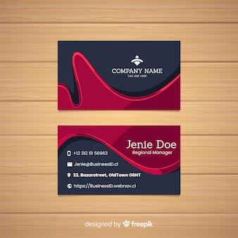Plantilla de tarjeta de visita en diseño plano