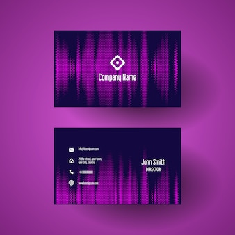 Plantilla de tarjeta de visita con un diseño de puntos de semitono rosa