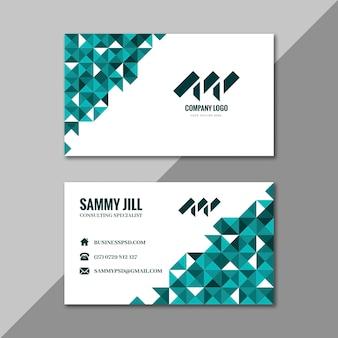 Plantilla de tarjeta de visita de doble cara horizontal empresaria