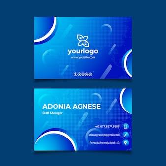 Plantilla de tarjeta de visita de doble cara de negocios generales