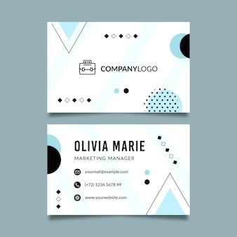 Plantilla de tarjeta de visita de doble cara para negocios generales