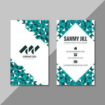 Plantilla de tarjeta de visita de doble cara vertical empresaria