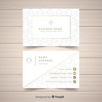 Plantilla de tarjeta de visita dorada y elegante