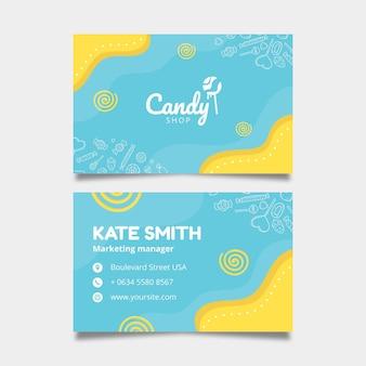 Plantilla de tarjeta de visita de dulces