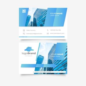 Plantilla de tarjeta de visita con edificios