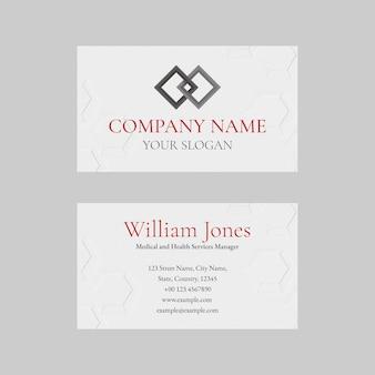 Plantilla de tarjeta de visita editable en diseño abstracto