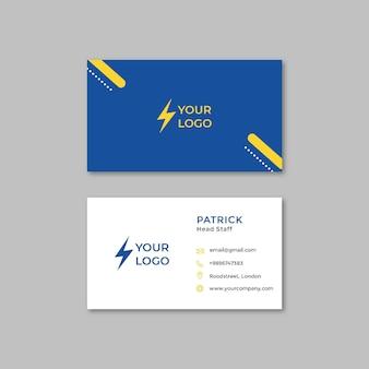 Plantilla de tarjeta de visita de electricista
