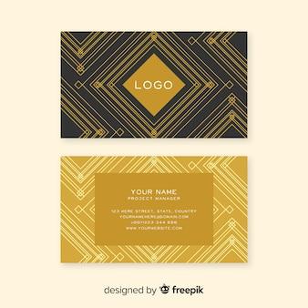 Plantilla de tarjeta de visita elegante y clásica