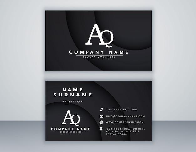 Plantilla de tarjeta de visita con elegante elemento composición concepto limpio