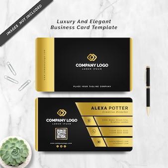 Plantilla de tarjeta de visita elegante y de lujo
