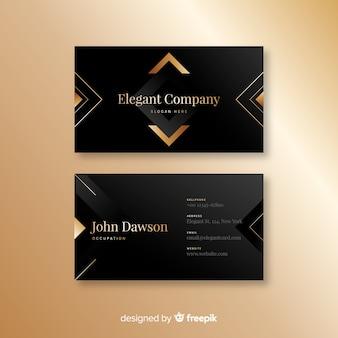 Plantilla de tarjeta de visita elegante y oscura