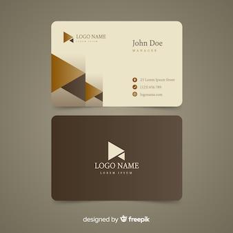 Plantilla de tarjeta de visita elegante