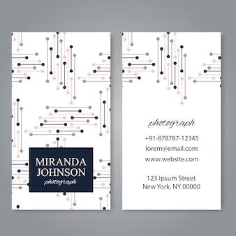 Plantilla de tarjeta de visita con elementos geométricos