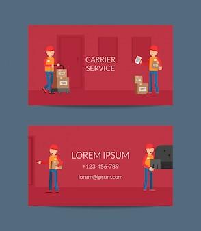Plantilla de tarjeta de visita para empresa de servicios de entrega