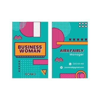 Plantilla de tarjeta de visita de empresaria