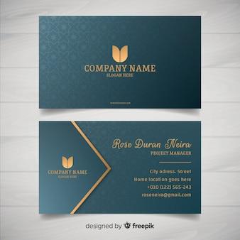 Plantilla de tarjeta de visita estilo elegante
