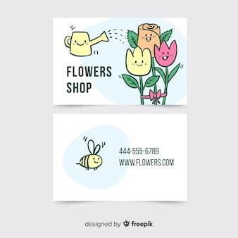 Plantilla de tarjeta de visita de estilo kawaii