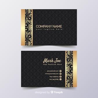 Plantilla de tarjeta de visita en estilo de lujo