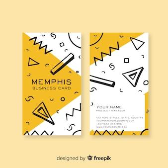 Plantilla de tarjeta de visita en estilo memphis