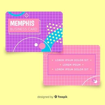 Plantilla de tarjeta de visita de estilo memphis