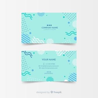 Plantilla de tarjeta de visita estilo memphis